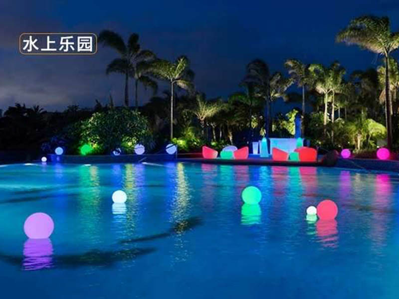 水上乐园圆球灯